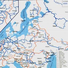 карта дуная