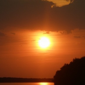 вечер на реке Дунай