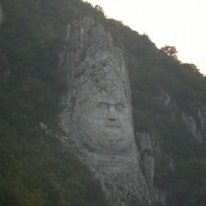 скала на реке дунай
