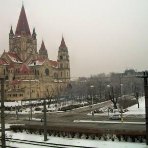 Вена Австрия р. Дунай собор