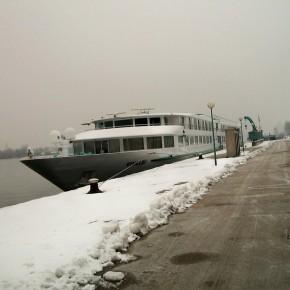 Вена Австрия р. Дунай причал