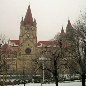 Вена Австрия р. Дунай церковь Кирха