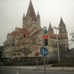 церковь Вена Австрия р. Дунай