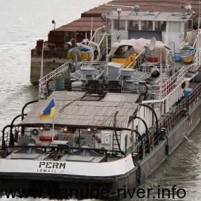 речной буксир- толкач Перьм, удп, Измаил, Река Дунай