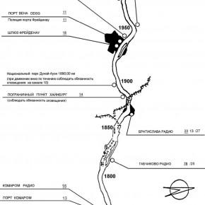 карта верхнего дуная  река