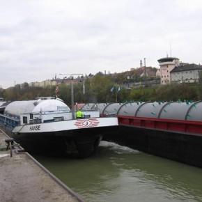 Порт Пассау на реке Дунай, страна Германия