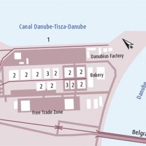 план Порта Нови Сад