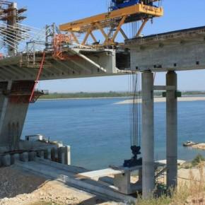 новый мост через реку дунай