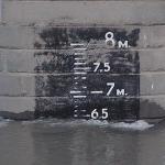Уровень воды на нижнем Дунае 25.01.2013