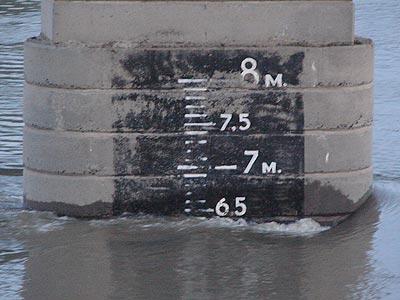 Дунай река- уровень воды