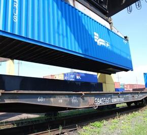 перевозка контейнера по железной дороге