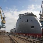 Корпуса двух судов-снабженцев были спущены на воду судостроительным  заводом «Залив» (Украина).