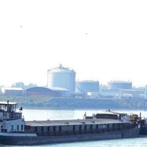 Венгерский флот, самоходная баржа, толкач