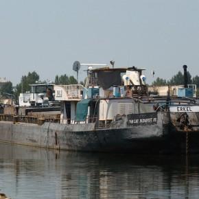 Венгерский флот, Erkel, самоходная баржа, толкач