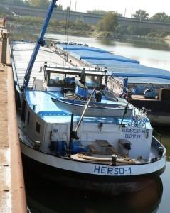 Венгерский флот, буксир, HERSO-1,толкач, самоходная баржа
