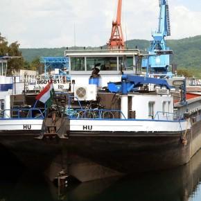 Венгерский флот, буксир, JOHANNA, толкач, самоходная баржа