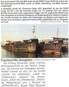 Венгерский флот, буксир, KALMAN, толкач, самоходная баржа