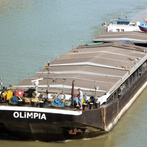 Венгерский флот, буксир, OLIMPIA, толкач, самоходная баржа