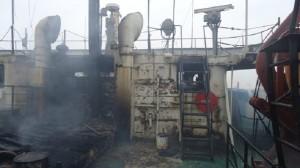 В Херсоне на судне «Корстен» произошел  пожар