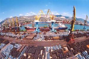 Груз в порту
