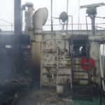 В Херсоне на судне «Корстен» произошел  пожар.