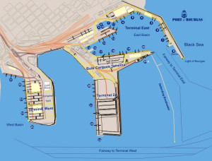 Схема порта Бургас