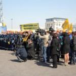 На сокращения людей  в морских портах Украины наложен мораторий.