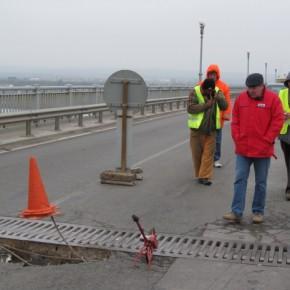 В Русе обрушения мостового перехода через реку Дунай