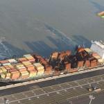 Судно  «MSC FLAMINIA», который горел и дрейфовал без экипажа в Атлантике,  прибыл на починку  в Констанцу.