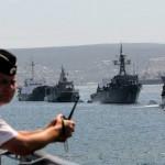 В морпорт Болгарии прибыли  военные корабли.