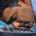 В Индии тексты набирают носами